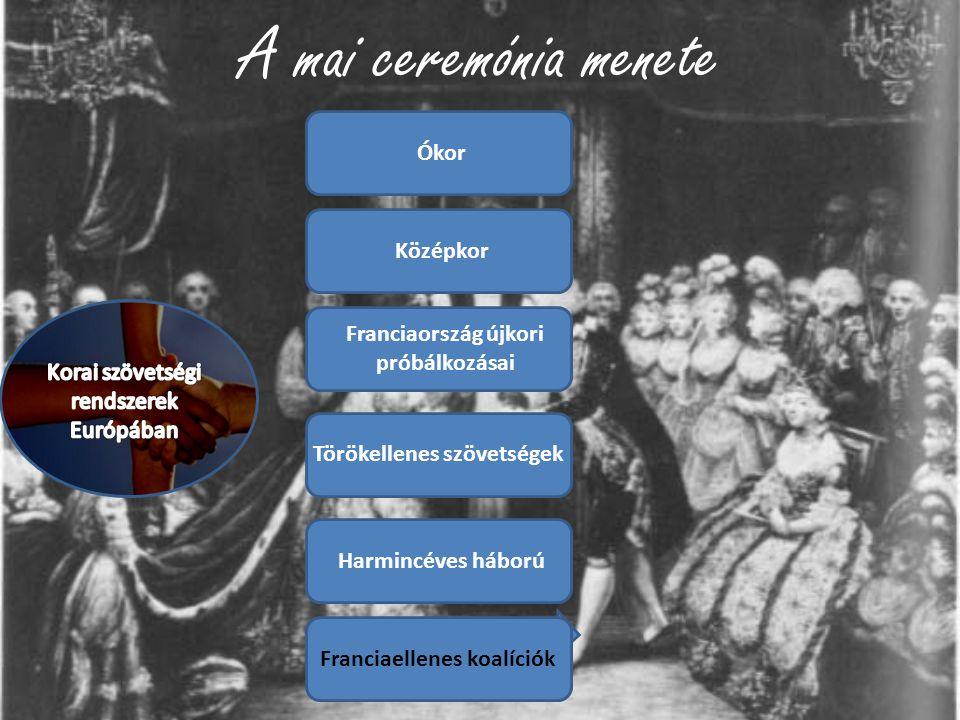 A mai ceremónia menete Ókor Középkor
