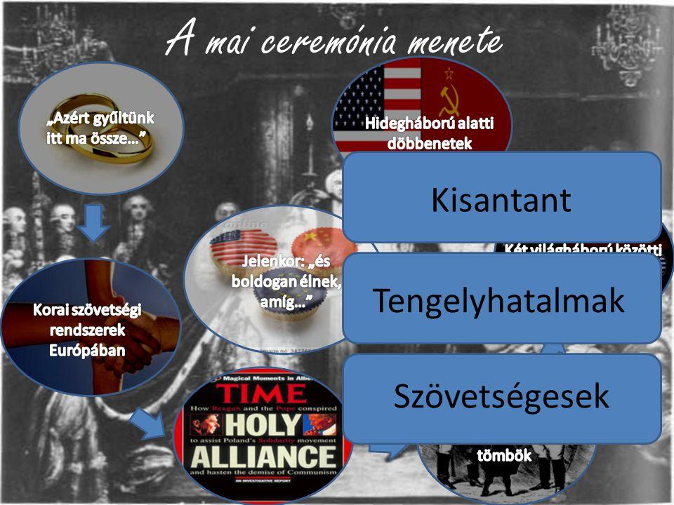 A mai ceremónia menete Kisantant Tengelyhatalmak Szövetségesek