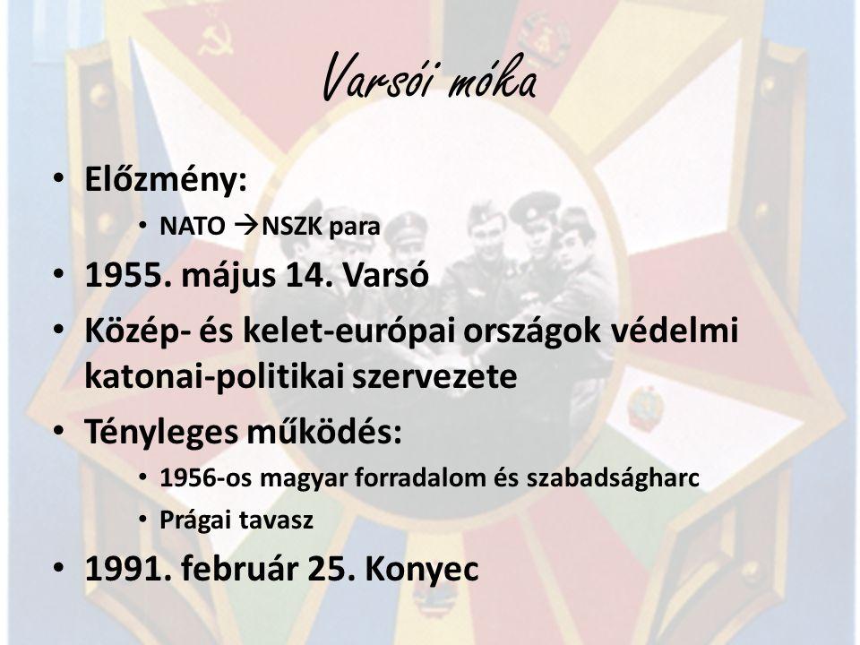 Varsói móka Előzmény: 1955. május 14. Varsó