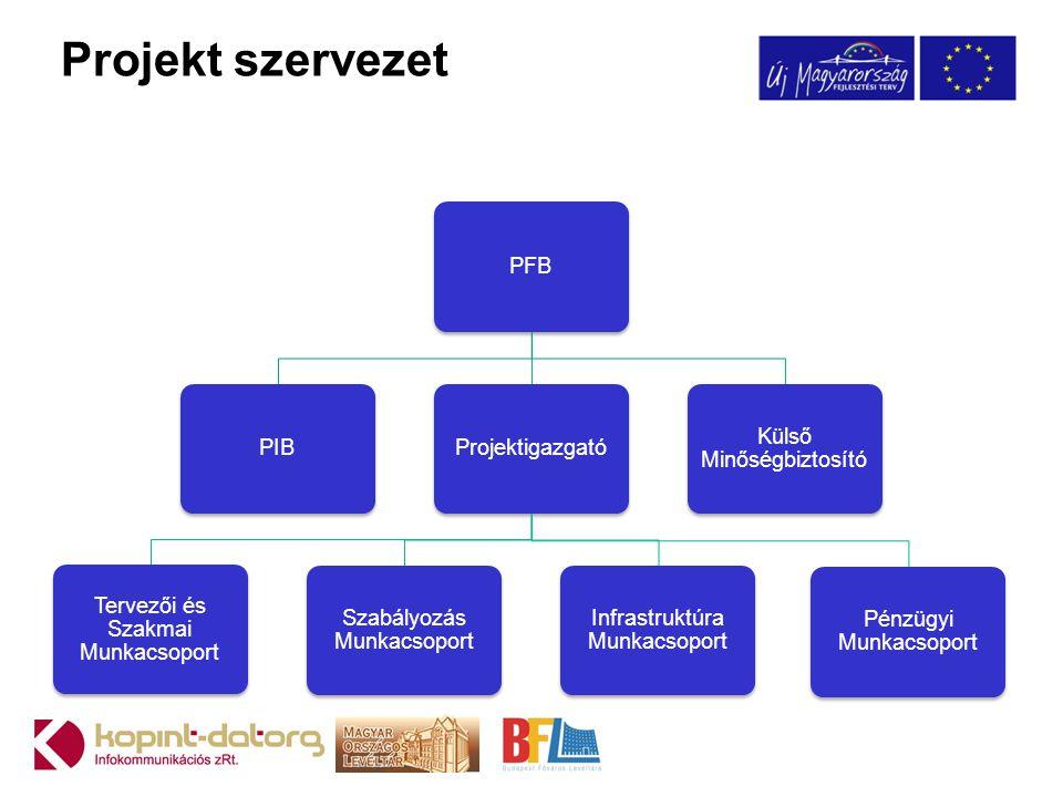 Projekt szervezet PFB PIB Projektigazgató