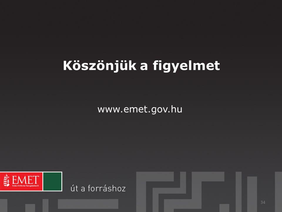 Köszönjük a figyelmet www.emet.gov.hu 34
