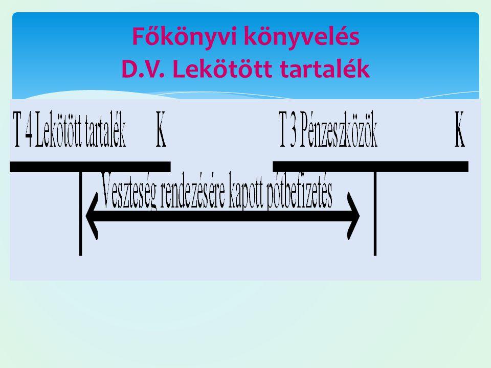 Főkönyvi könyvelés D.V. Lekötött tartalék