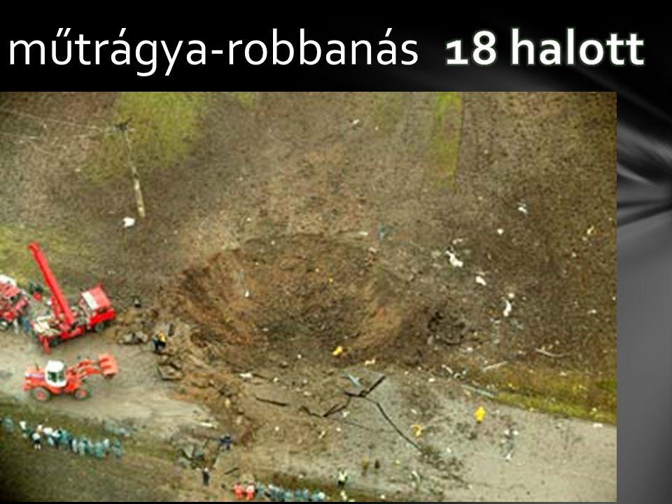 műtrágya-robbanás 18 halott
