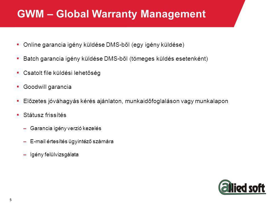 GWM – Global Warranty Management