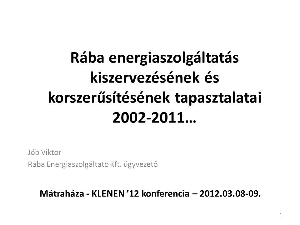 Jób Viktor Rába Energiaszolgáltató Kft. ügyvezető