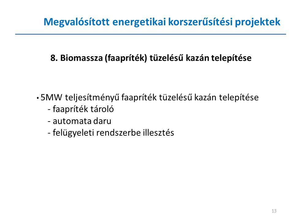 Megvalósított energetikai korszerűsítési projektek