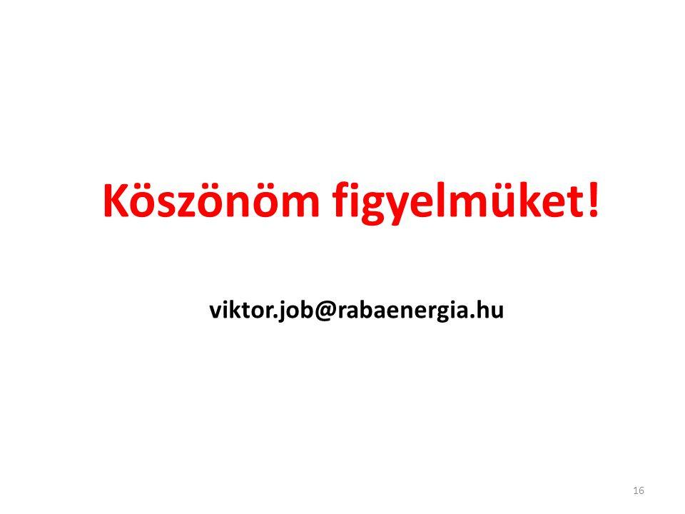 Köszönöm figyelmüket! viktor.job@rabaenergia.hu