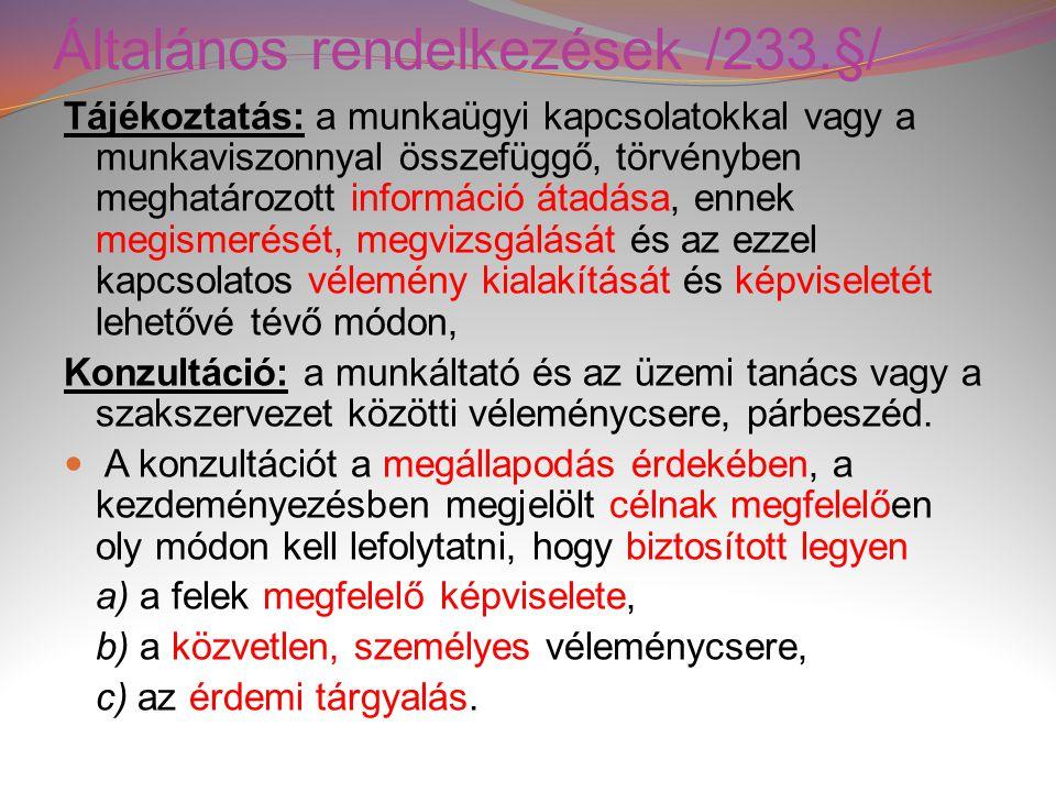 Általános rendelkezések /233.§/