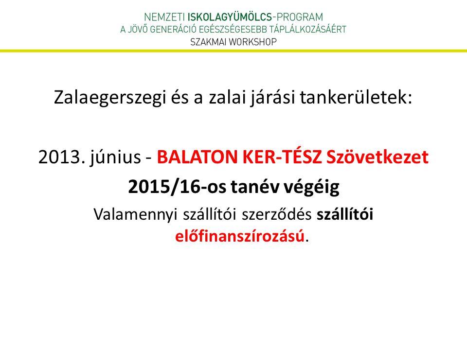 Zalaegerszegi és a zalai járási tankerületek: