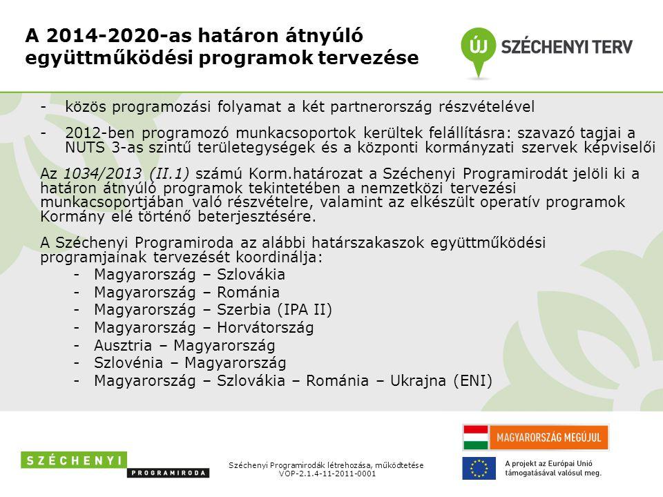 A 2014-2020-as határon átnyúló együttműködési programok tervezése