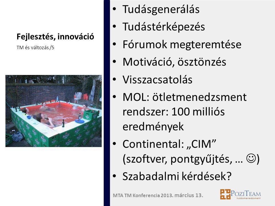 MOL: ötletmenedzsment rendszer: 100 milliós eredmények