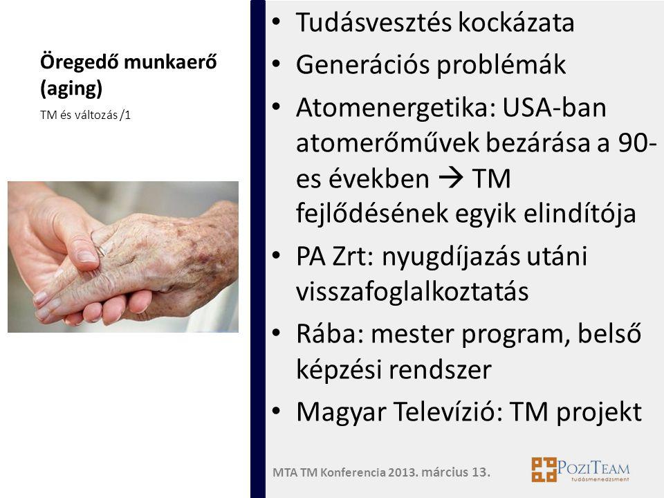 Öregedő munkaerő (aging)