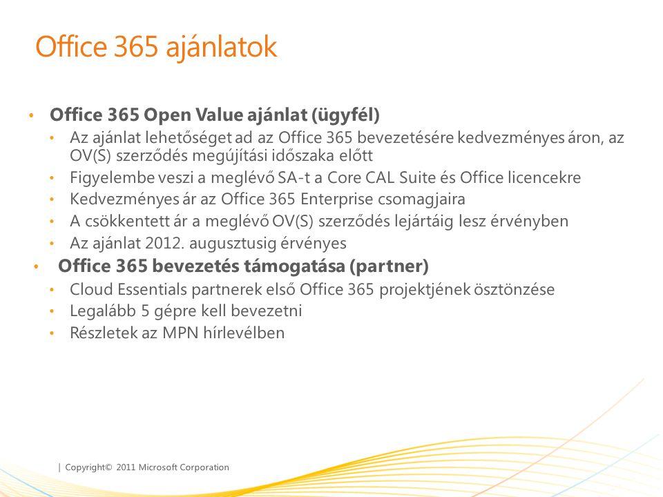 Office 365 ajánlatok Office 365 Open Value ajánlat (ügyfél)