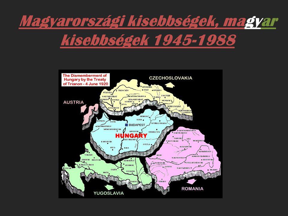 Magyarországi kisebbségek, magyar kisebbségek 1945-1988