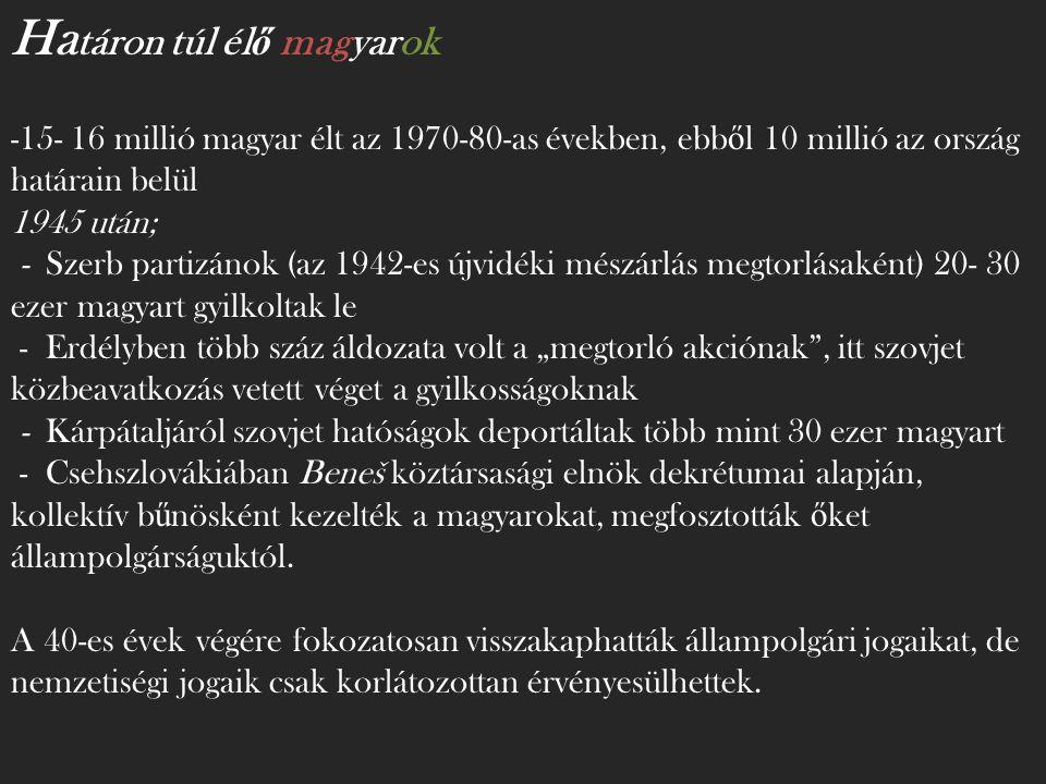 Határon túl élő magyarok