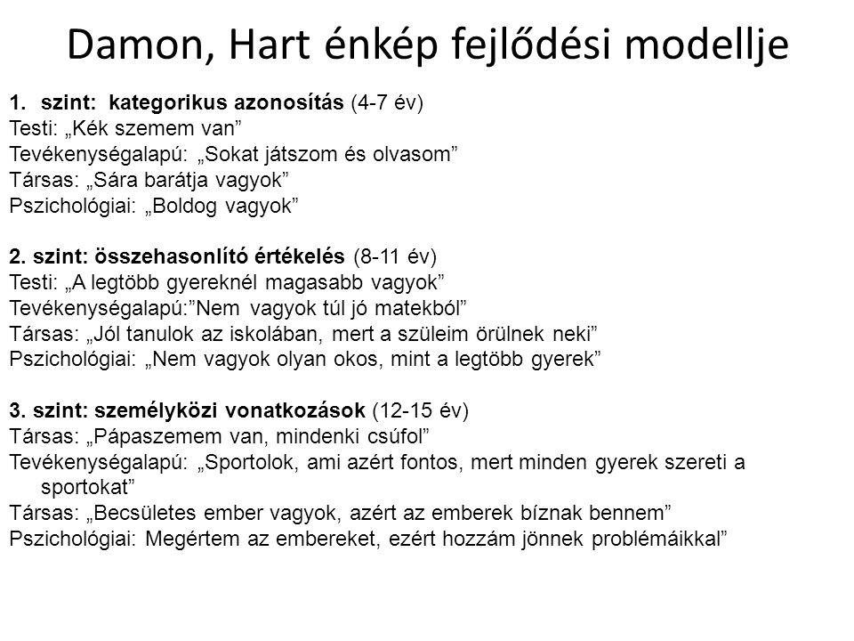 Damon, Hart énkép fejlődési modellje