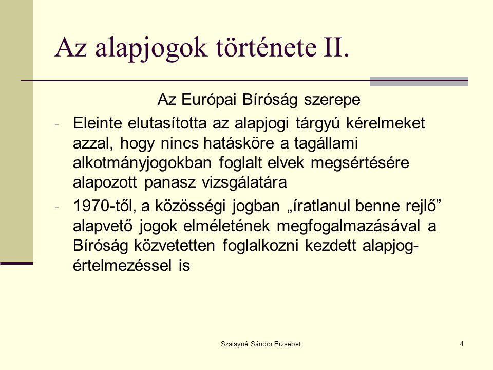 Az alapjogok története II.
