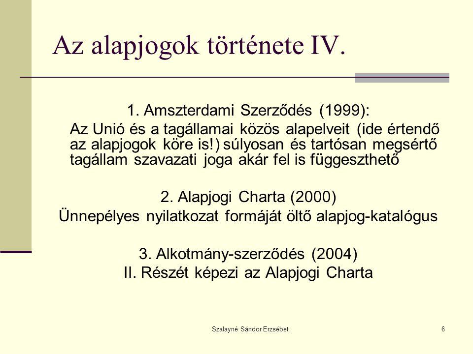 Az alapjogok története IV.