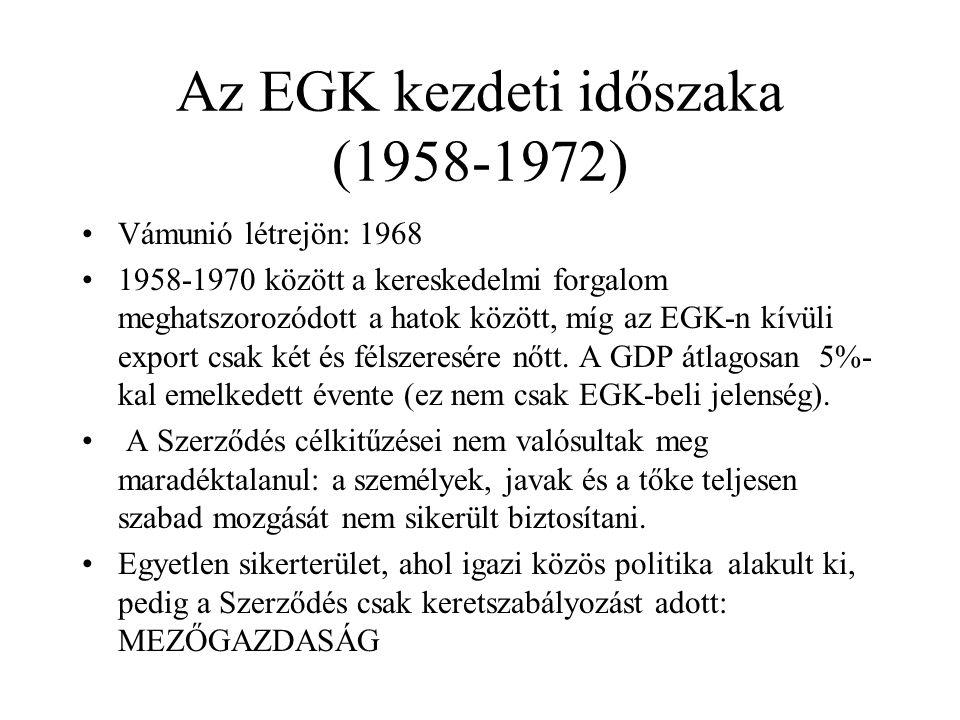 Az EGK kezdeti időszaka (1958-1972)