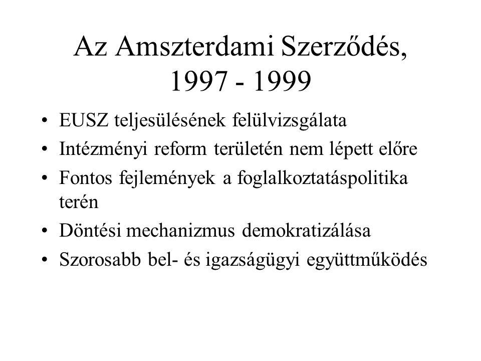 Az Amszterdami Szerződés, 1997 - 1999
