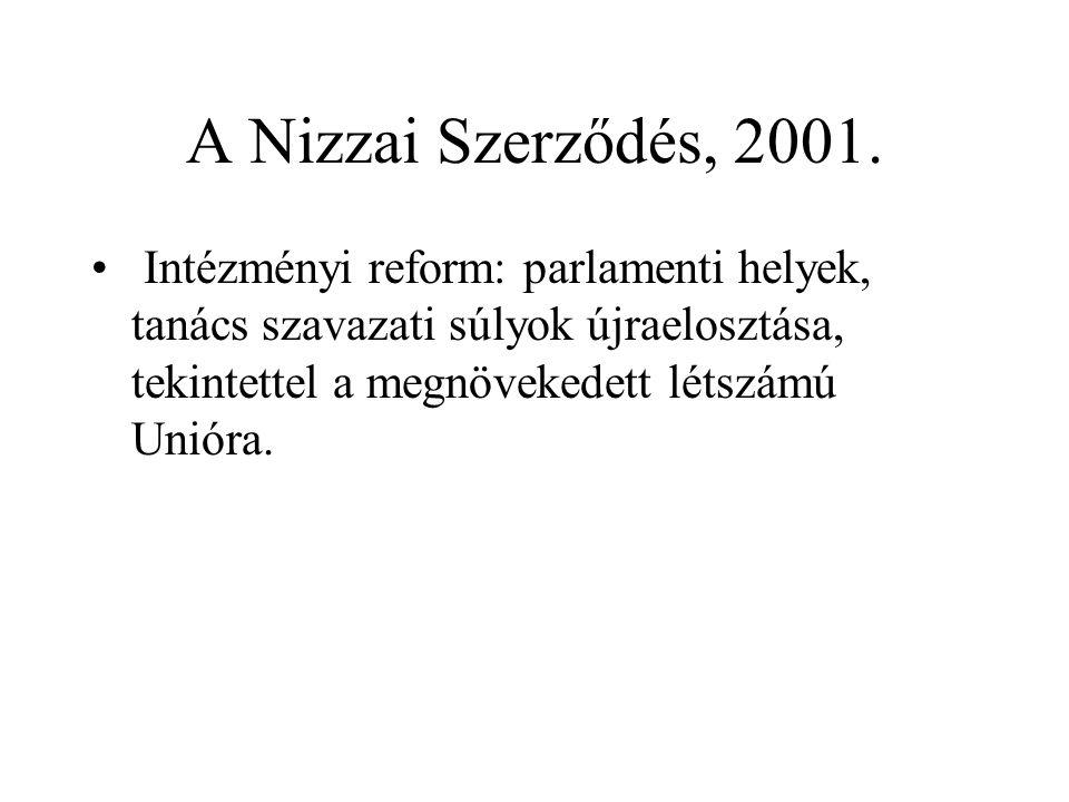 A Nizzai Szerződés, 2001.