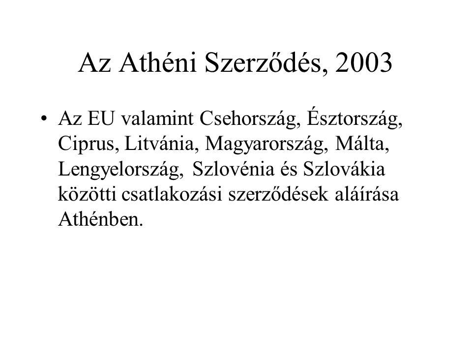 Az Athéni Szerződés, 2003