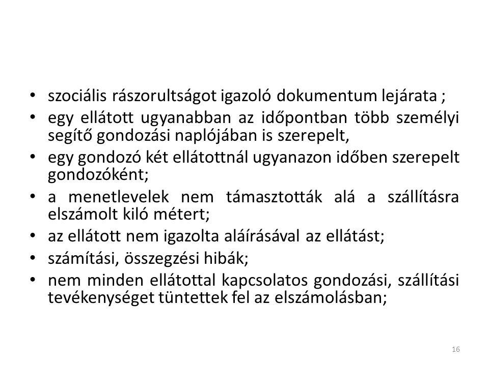 szociális rászorultságot igazoló dokumentum lejárata ;