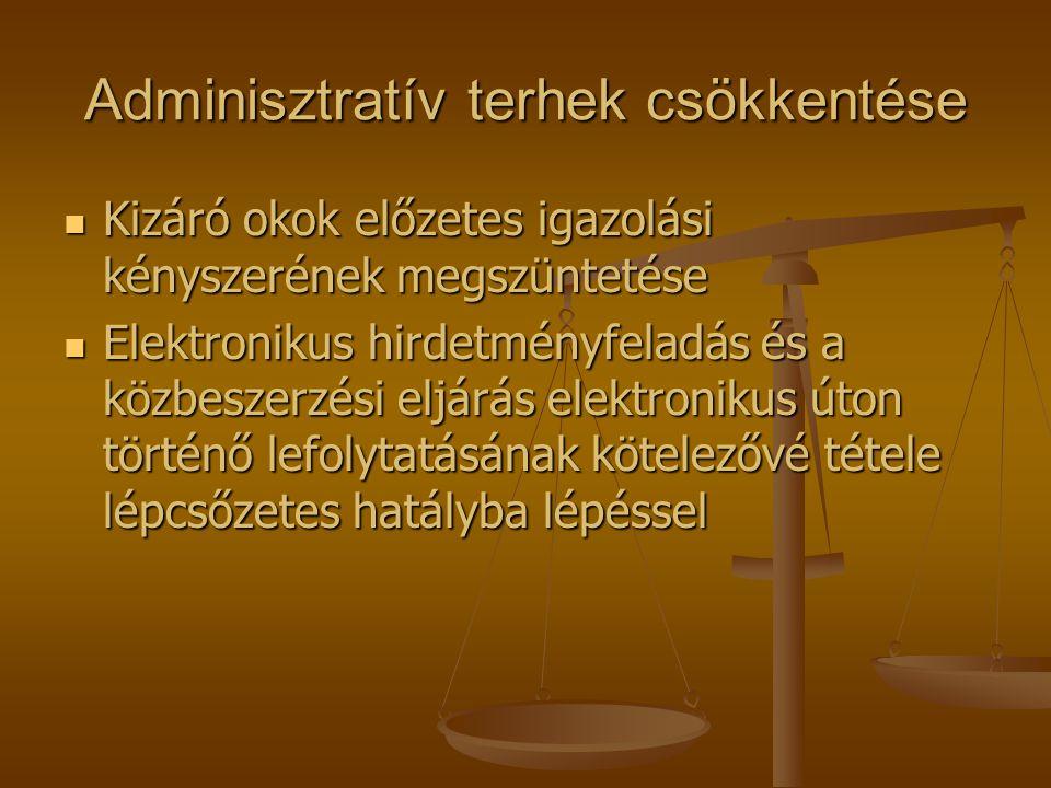 Adminisztratív terhek csökkentése