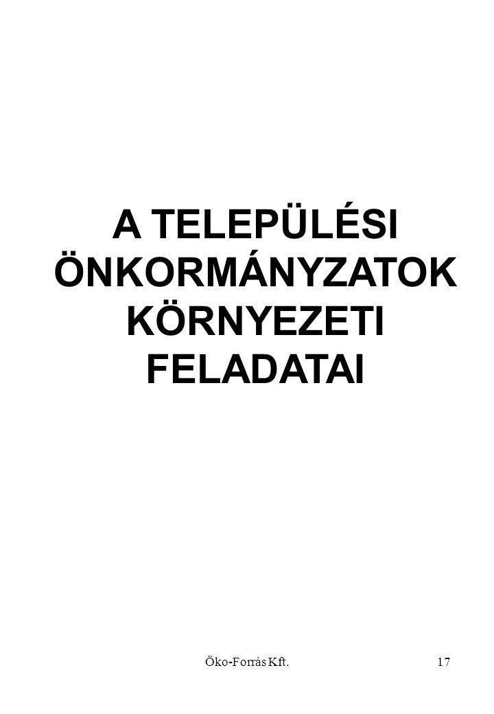 A TELEPÜLÉSI ÖNKORMÁNYZATOK KÖRNYEZETI FELADATAI