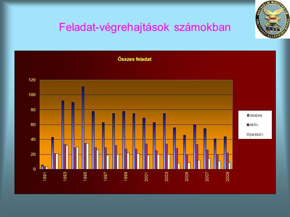 Feladat-végrehajtások számokban