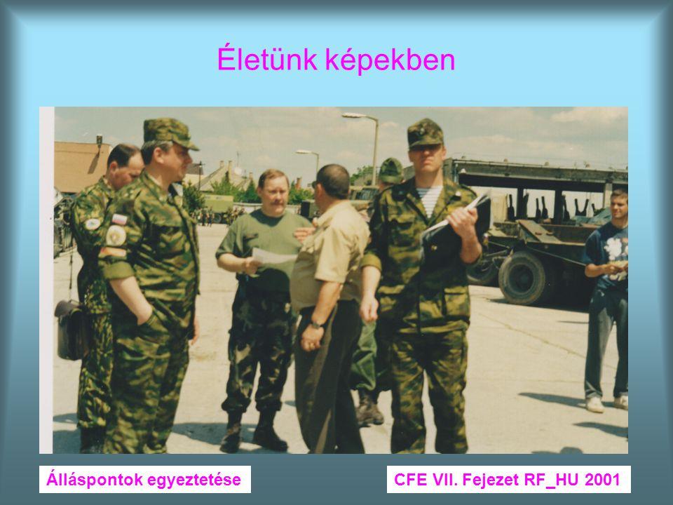 Életünk képekben Álláspontok egyeztetése CFE VII. Fejezet RF_HU 2001