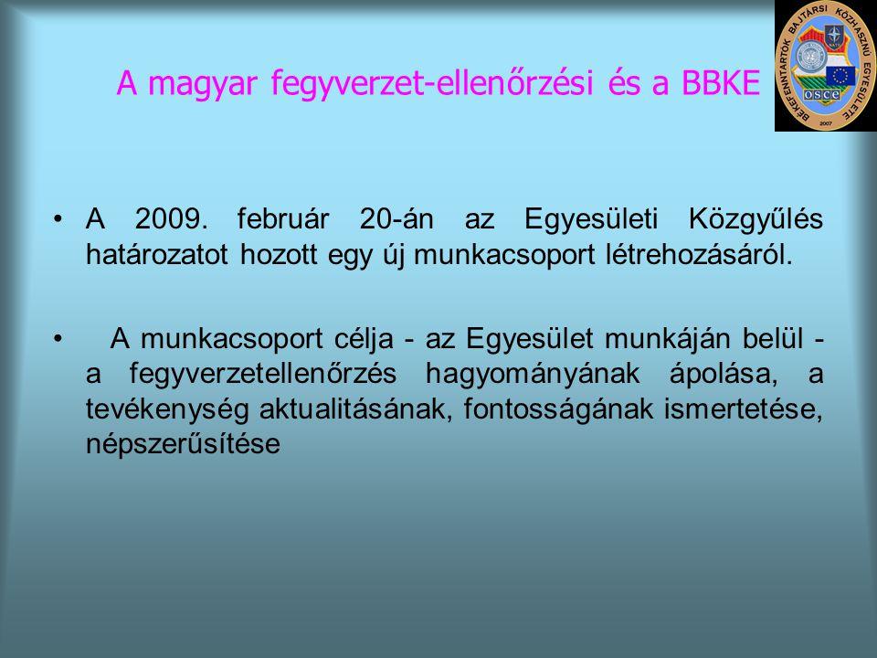 A magyar fegyverzet-ellenőrzési és a BBKE