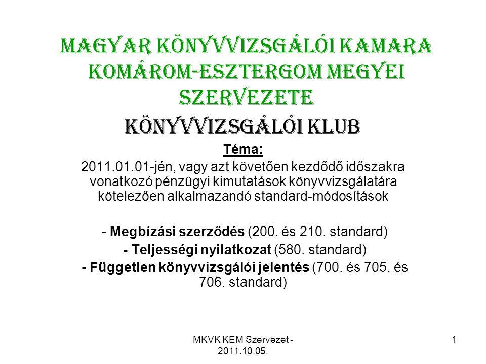 Magyar Könyvvizsgálói Kamara Komárom-Esztergom Megyei Szervezete