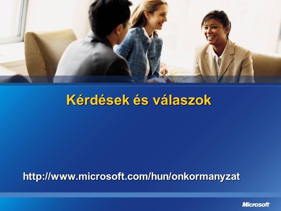 Kérdések és válaszok http://www.microsoft.com/hun/onkormanyzat