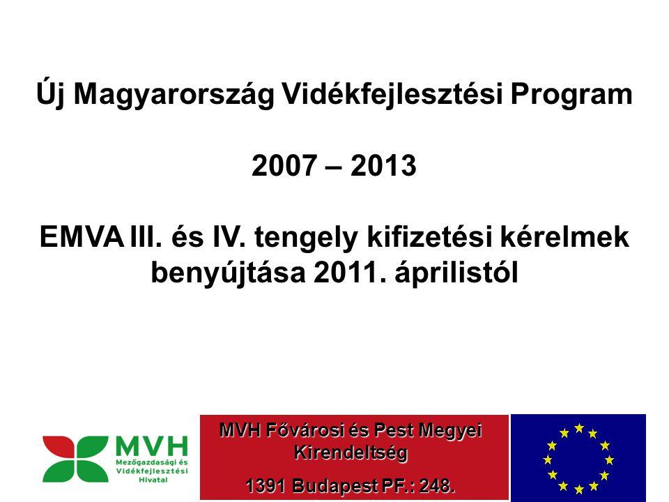 Új Magyarország Vidékfejlesztési Program 2007 – 2013