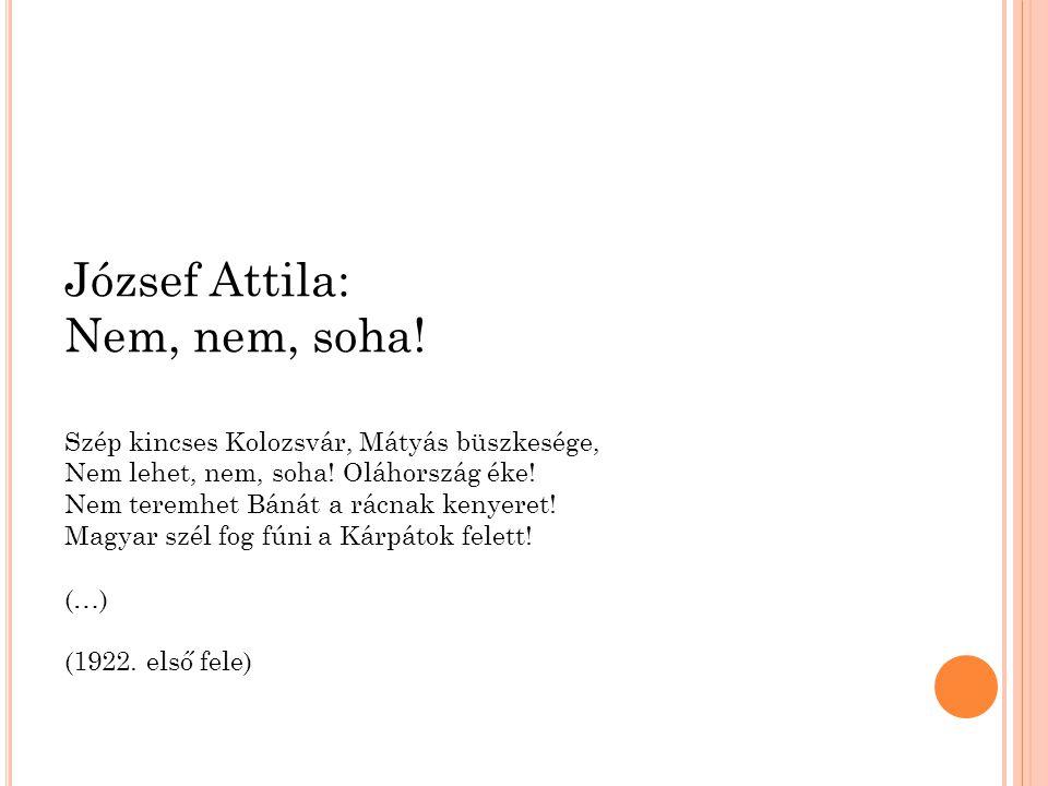 József Attila: Nem, nem, soha