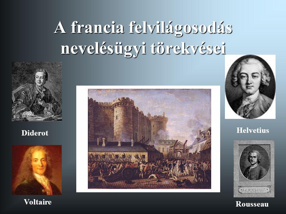 A francia felvilágosodás nevelésügyi törekvései