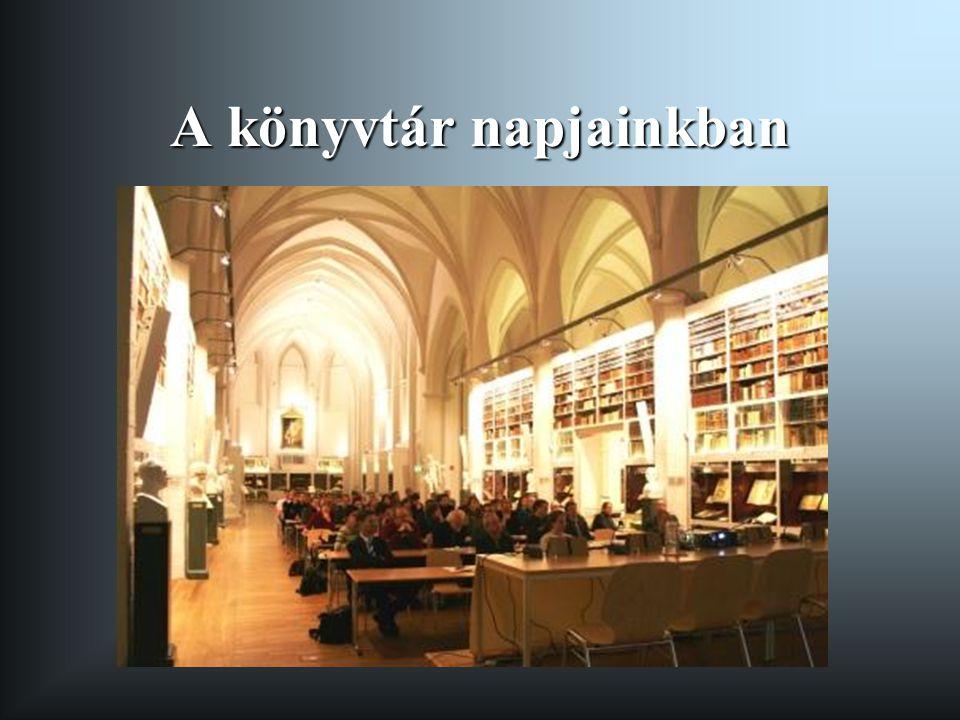 A könyvtár napjainkban