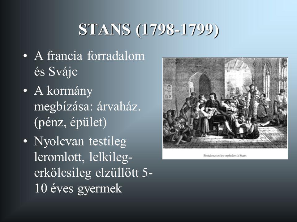 STANS (1798-1799) A francia forradalom és Svájc