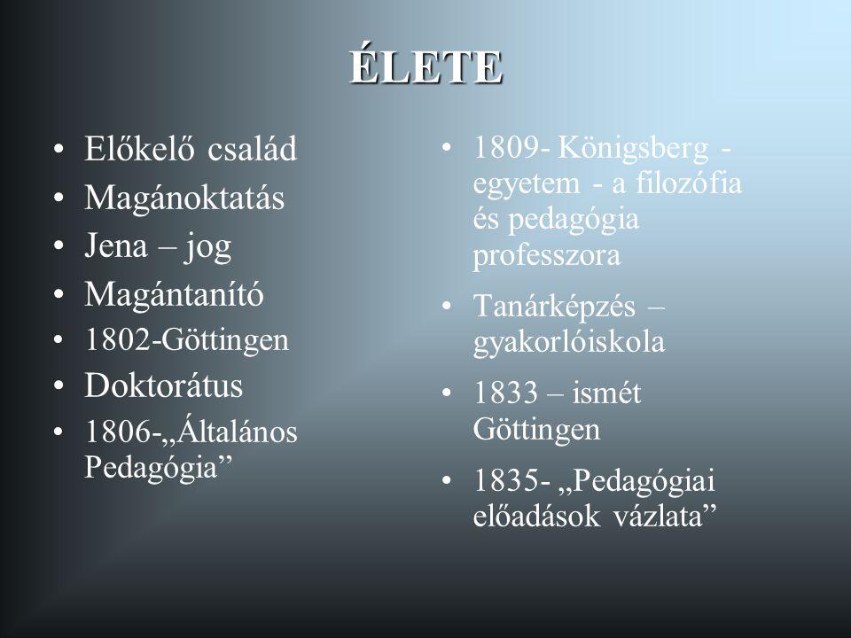 ÉLETE Előkelő család Magánoktatás Jena – jog Magántanító Doktorátus