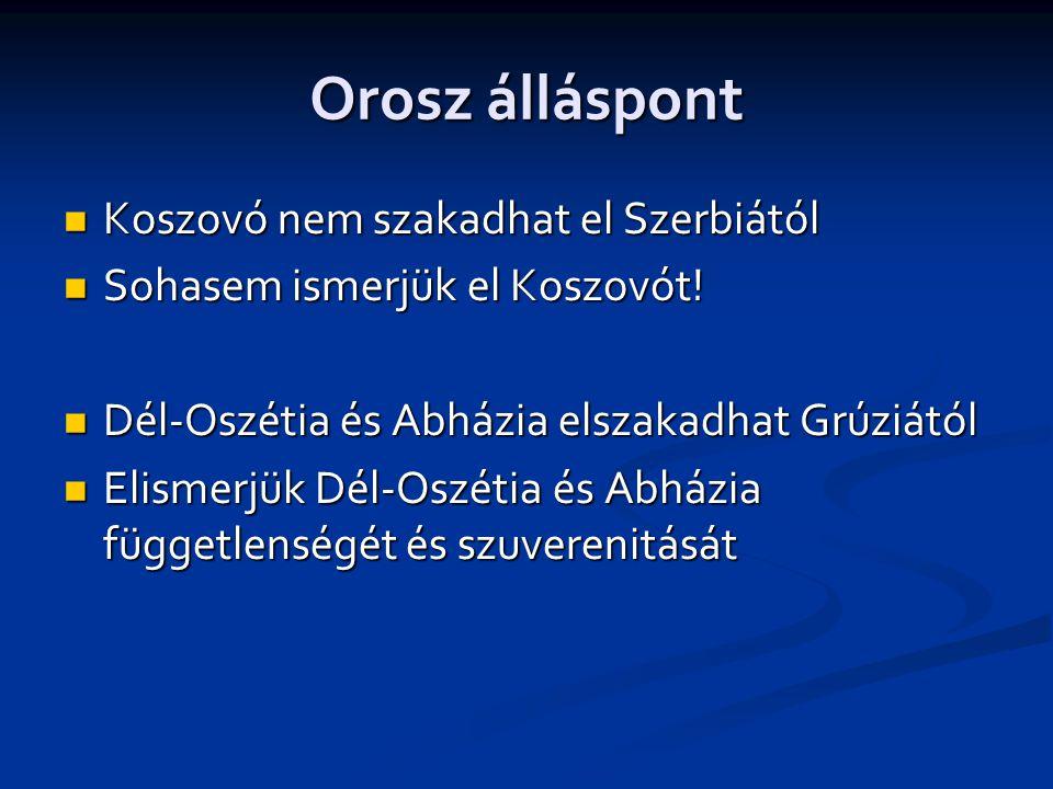 Orosz álláspont Koszovó nem szakadhat el Szerbiától
