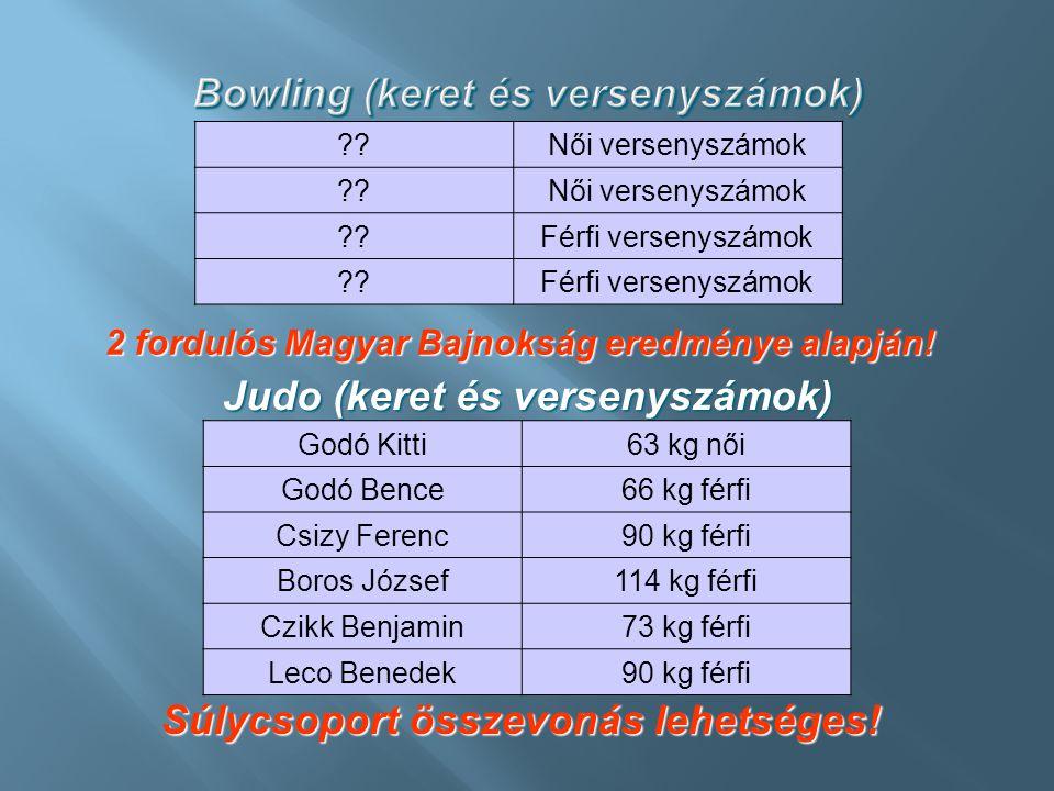 Bowling (keret és versenyszámok)