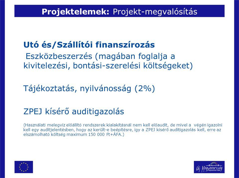 Projektelemek: Projekt-megvalósítás