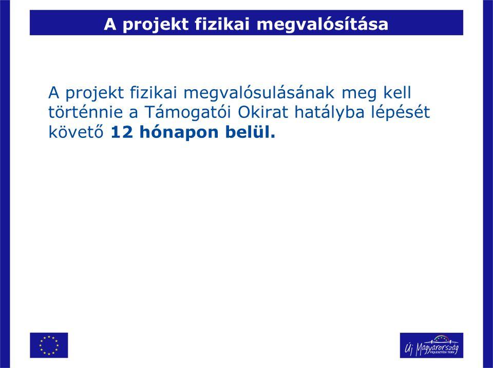 A projekt fizikai megvalósítása