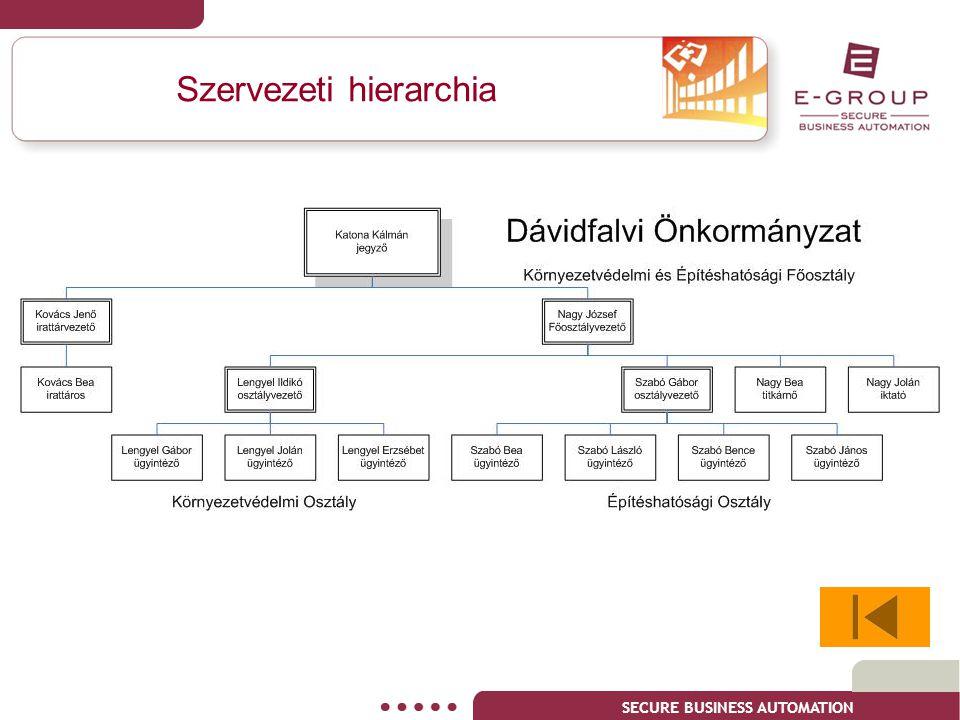 Szervezeti hierarchia