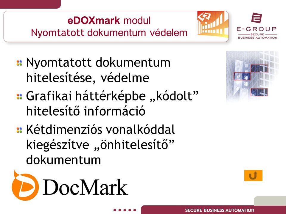 eDOXmark modul Nyomtatott dokumentum védelem