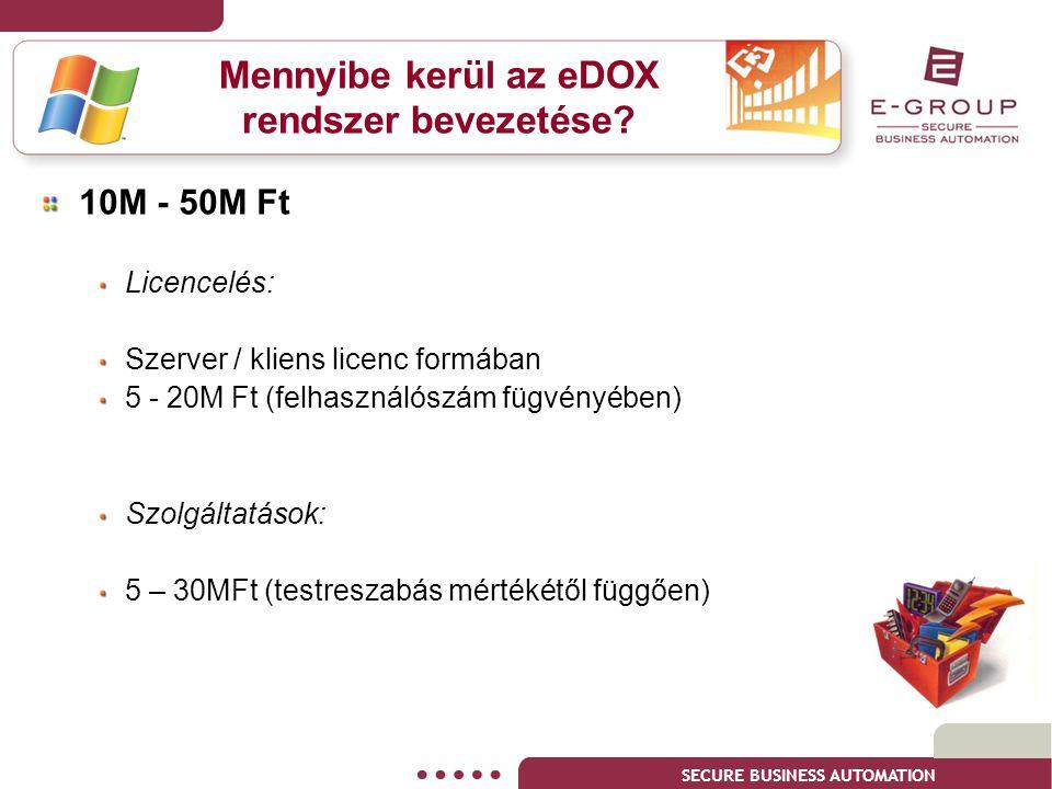 Mennyibe kerül az eDOX rendszer bevezetése
