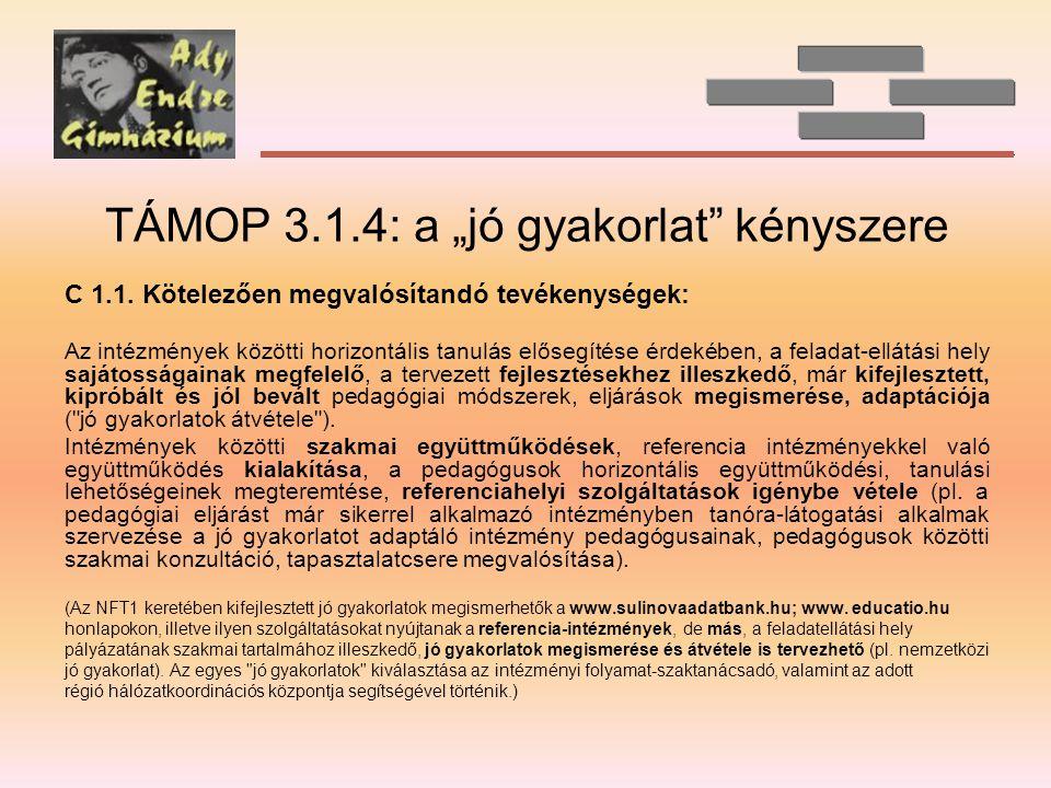 """TÁMOP 3.1.4: a """"jó gyakorlat kényszere"""