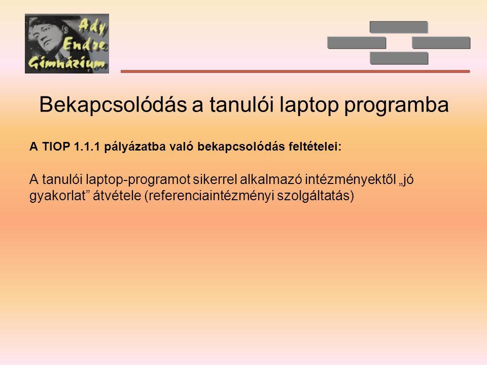 Bekapcsolódás a tanulói laptop programba