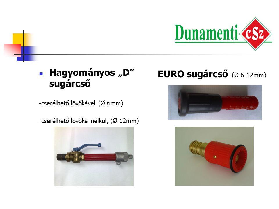 """Hagyományos """"D sugárcső EURO sugárcső (Ø 6-12mm)"""